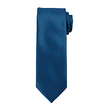 Buy John Lewis Mini Block Tie, Navy/Teal Online at johnlewis.com