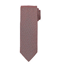 Buy John Lewis Mini Grid Tie, Burgundy/White Online at johnlewis.com