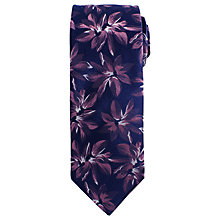 Buy John Lewis Large Flower Print Woven Silk Tie Online at johnlewis.com