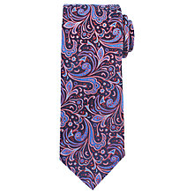 Buy John Lewis Bold Paisley Woven Silk Tie, Red/Blue/Navy Online at johnlewis.com