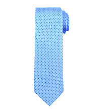 Buy John Lewis Mini Dash Silk Tie, Light Blue Online at johnlewis.com