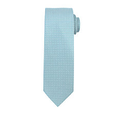 Buy John Lewis Textured Grid Dot Polyester Tie, Sage Online at johnlewis.com