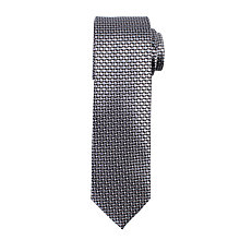 Buy John Lewis Satin Mini Tile Silk Tie, Dark Grey Online at johnlewis.com