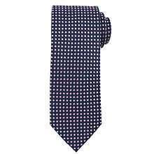 Buy John Lewis Mini Diamond Silk Tie, Navy/Pink Online at johnlewis.com