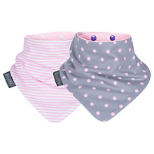 Buy Cheeky Chompers Baby Neckerbib, Pink/Polka, Pack of 2 Online at johnlewis.com