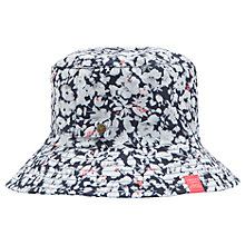 Buy Joules Ditsy Print Rain Hat, Pale Grey/Pink Online at johnlewis.com