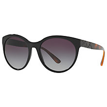 Buy Burberry BE4236 Oval Sunglasses, Black/Grey Gradient Online at johnlewis.com