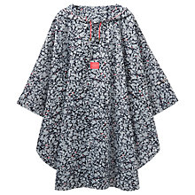 Buy Joules Ditsy Print Poncho, Navy/Pink Online at johnlewis.com