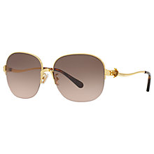 Buy Coach HC7068 Square Sunglasses, Gold/Brown Gradient Online at johnlewis.com