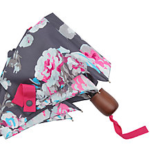 Buy Joules Floral Print Umbrella, Grey/Multi Online at johnlewis.com