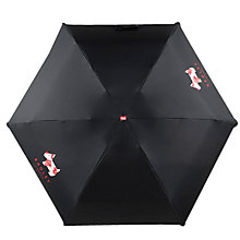 Buy Radley Deco Dog Compact Umbrella, Black Online at johnlewis.com