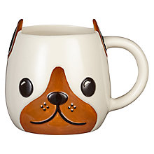 Buy John Lewis 3D Dog Mug Online at johnlewis.com