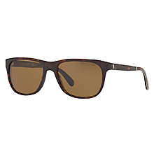 Buy Polo Ralph Lauren PH4116 Polarised Square Sunglasses, Dark Tortoise/Brown Online at johnlewis.com