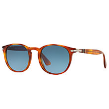 Buy Persol PO3157S Terra di Siena Oval Sunglasses, Tortoise/Blue Gradient Online at johnlewis.com
