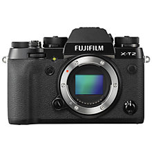 "Buy Fujifilm X-T2 Compact System Camera, 4K Ultra HD, 24.3MP, Wi-Fi, OLED EVF, 3"" Tiltable LCD Screen, Body Only Online at johnlewis.com"