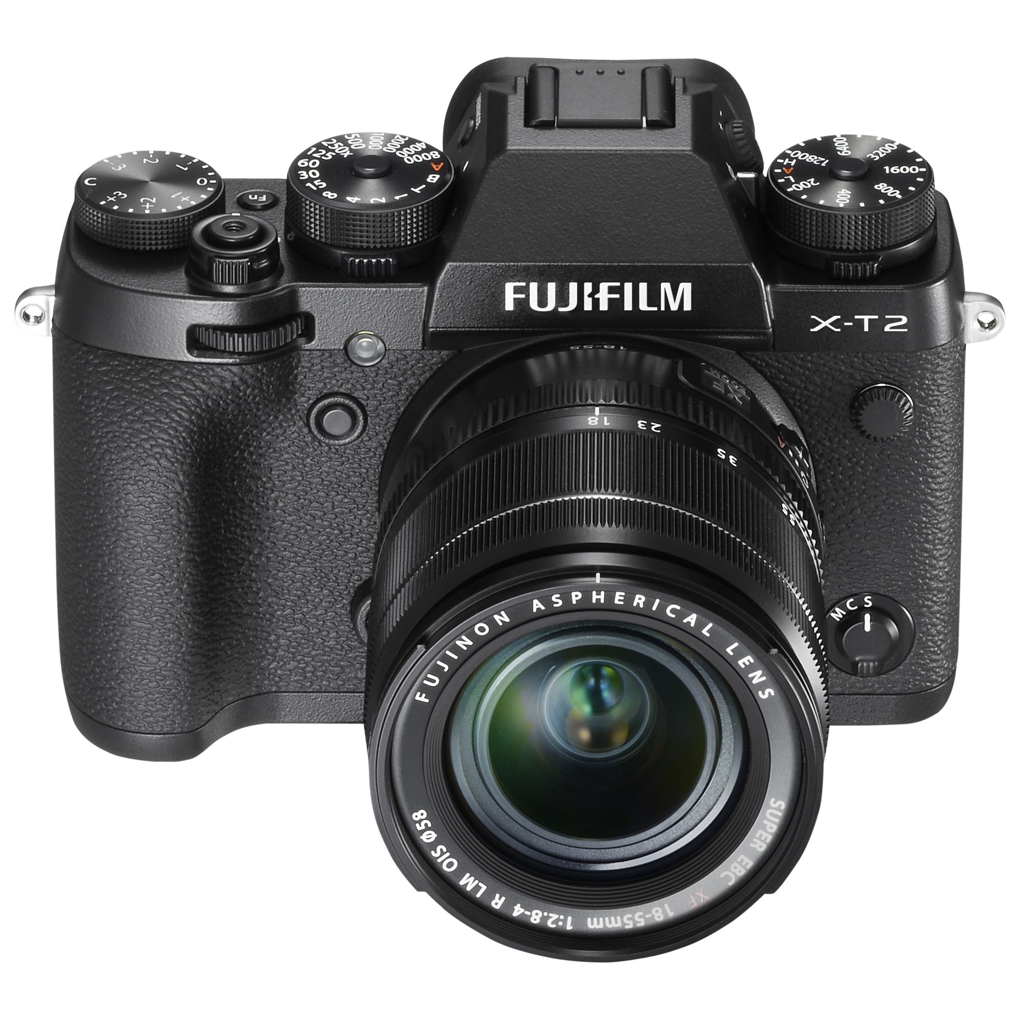 "Fujifilm Fujifilm X-T2 Compact System Camera with XF 18-55mm IS Lens, 4K Ultra HD, 24.3MP, Wi-Fi, OLED EVF, 3"" Tiltable LCD Screen"