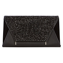Buy Coast Lily Sparkle Clutch Bag, Black Online at johnlewis.com