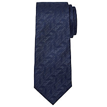Buy Calvin Klein Tonal Leaf Pattern Silk Tie, Navy Online at johnlewis.com