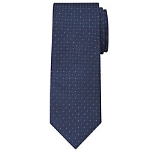 Buy Calvin Klein Circle Micro Dot Silk Tie, Navy Online at johnlewis.com
