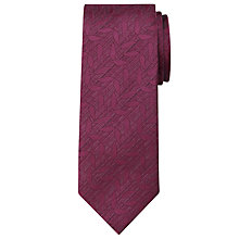 Buy Calvin Klein Tonal Leaf Silk Tie, Burgundy Online at johnlewis.com