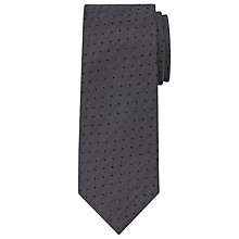 Buy Calvin Klein Dot Silk Tie, Charcoal Online at johnlewis.com