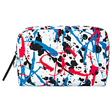 Buy MAC Street Scene Medium Makeup Bag, White Online at johnlewis.com