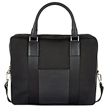 Buy Aquascutum Canvas Laptop Bag, Black Online at johnlewis.com