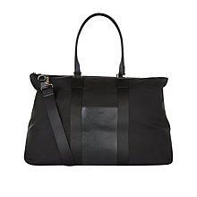 Buy Aquascutum Canvas Holdall, Black Online at johnlewis.com