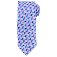 Buy John Lewis Diagonal Zigzag Woven Silk Tie Online at johnlewis.com