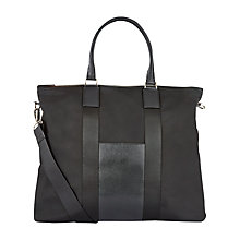 Buy Aquascutum Canvas Tote Bag, Black Online at johnlewis.com
