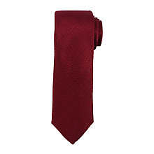 Buy John Lewis Heavy Texture Woven Silk Tie, Burgundy Online at johnlewis.com