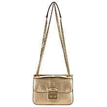 Buy MICHAEL Michael Kors Sloan Editor Medium Leather Chain Shoulder Bag, Pale Gold Online at johnlewis.com