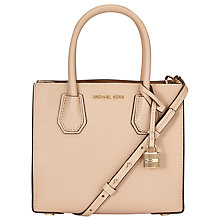 Buy MICHAEL Michael Kors Mercer Medium Leather Tote Bag, Oyster Online at johnlewis.com