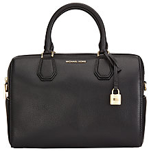 Buy MICHAEL Michael Kors Mercer Medium Duffel Weekend Bag, Black Online at johnlewis.com