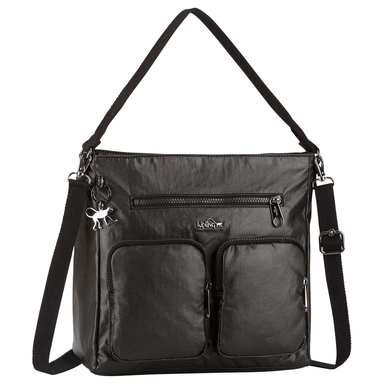 Kipling Kipling Tasmo Shoulder Bag, Metallic Black