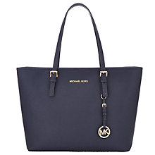 Buy MICHAEL Michael Kors Jet Set Travel Top Zip Leather Tote Bag Online at johnlewis.com