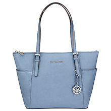 Buy MICHAEL Michael Kors Jet Set East/West Leather Tote Bag, Denim Online at johnlewis.com