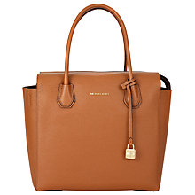 Buy MICHAEL Michael Kors Mercer Large Leather Satchel Online at johnlewis.com
