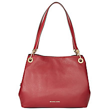 Buy MICHAEL Michael Kors Raven Large Shoulder Bag, Cherry Online at johnlewis.com