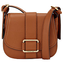 Buy MICHAEL Michael Kors Maxine Medium Leather Across Body Bag Online at johnlewis.com
