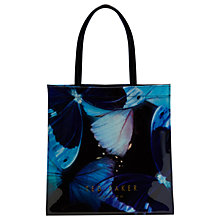 Buy Ted Baker Karicon Butterfly Collection Shopper Bag, Black Online at johnlewis.com
