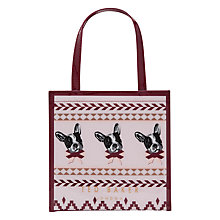 Buy Ted Baker Anscon Fairisle Small Shopper Bag, Dusky Pink Online at johnlewis.com