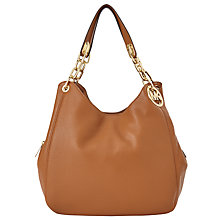 Buy MICHAEL Michael Kors Fulton Large Leather Shoulder Tote Bag Online at johnlewis.com