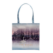 Buy Ted Baker Sollcon Sparkling Swan Print Small Shopper Bag, Straw Online at johnlewis.com