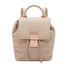Buy Ted Baker Gaile Quilted Leather Backpack, Taupe Online at johnlewis.com