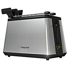 Buy Hotpoint TT22EUM0UK Toaster with Digital Display, Brushed Stainless Steel Online at johnlewis.com