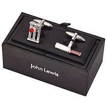Buy John Lewis Cricket Cufflinks, Silver Online at johnlewis.com