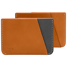 Buy Bellroy Micro Sleeve Leather Wallet, Caramel Online at johnlewis.com