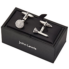 Buy John Lewis Golf Tee and Ball Cufflinks, Silver Online at johnlewis.com