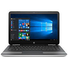"Buy HP Pavilion 14-al115na Laptop, Intel Core i3, 8GB RAM, 1TB, 14"", Natural Silver Online at johnlewis.com"